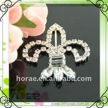 fashion decorative ribbon rhinestone buckle for invitation