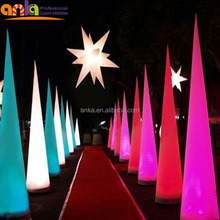 Customized inflatable decorations / inflatable cone with led lights / inflatable led column for sale