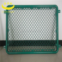 Metal Frame Material and Nature Pressure Treated Wood Type temporary construction chain link fence