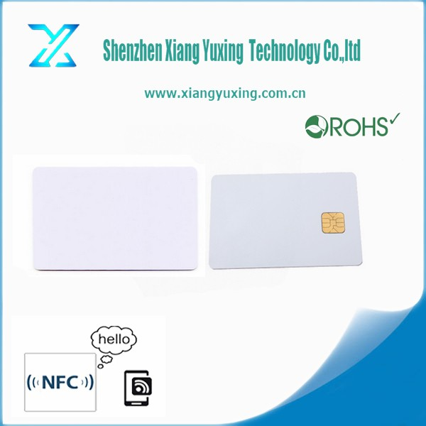 factory price printable SLE4442 / SLE4428 PVC blank ic chip card with magnetic stripe