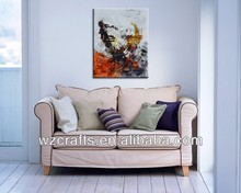 Euro-American Pop Style Abstract Oil Painting for Wall Art