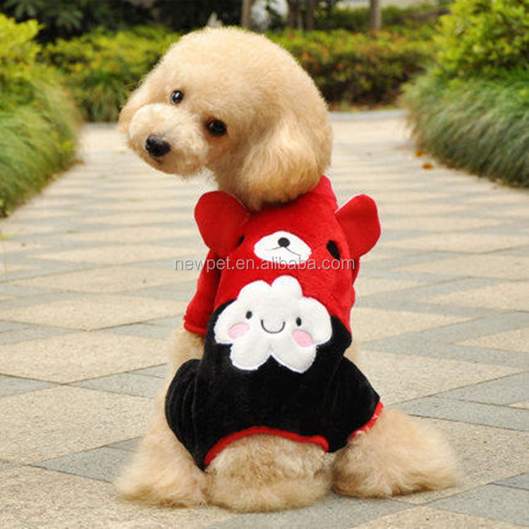Top level hot sale cloud figure pet clothes winter custom pets dog clothes