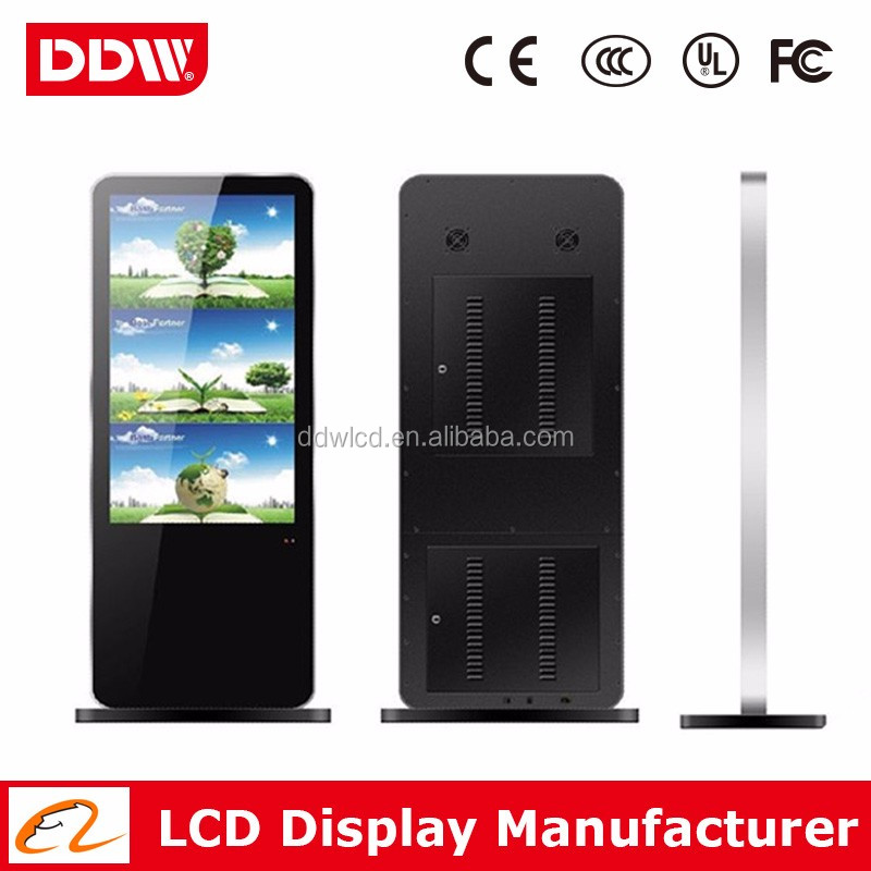 "32"" LED Backlit China Standing type Build Kiosk Interactive Touch Screen Kiosk Digital Signage Jobs Free"