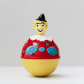 Custom make plastic injection roly poly toys,custom design plastic clown figure roly poly toys
