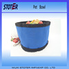 Folding waterproof nylon dia 22cm in oxford cloth pet travel water bowl