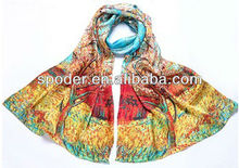 fashion new design modern chinese silk scarf