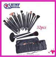 Professional 32pcs Comestic Makeup Brush Kit Wool Make Up Brush Tool Set With Super Soft Pouch Bag Case