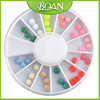 2015 BQAN 12 Color Mixed Flat Half Round Art Pearl Nail Decoration Nail Art Decorations