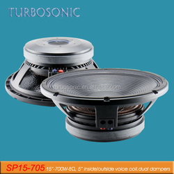 15 inch passive subwoofer speaker with 5 inch voice coil