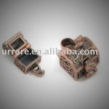 Antic Copper 3D Frame Box Shape Jewelry Charm Pendant