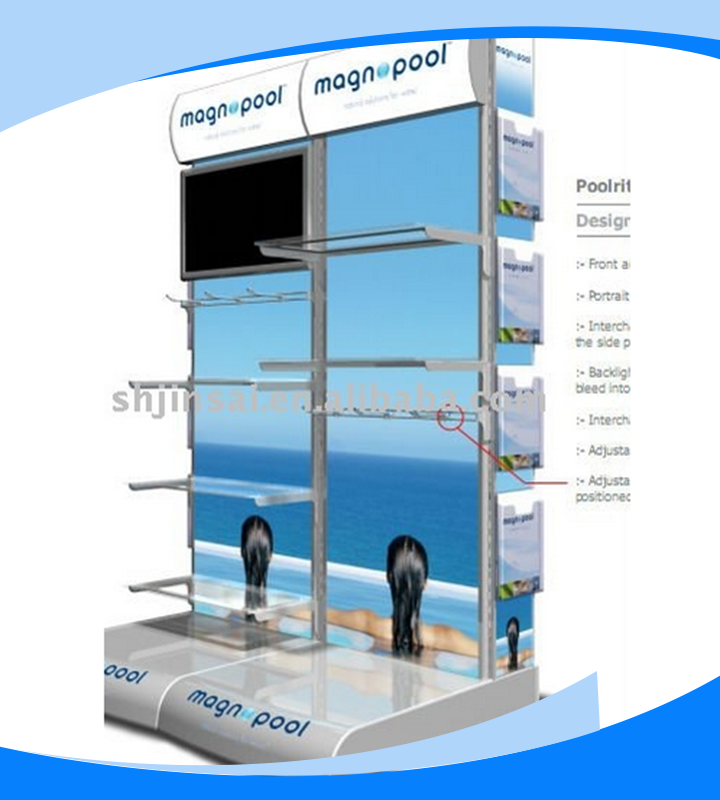 metal TV wall display stand for shopping mall