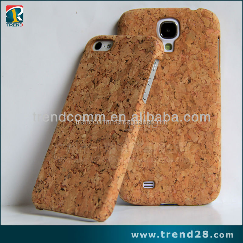 Hot selling cork case cork plastic case for iphone 5 5s