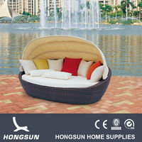 Round wicker rattan luxury sofas outdoor furniture