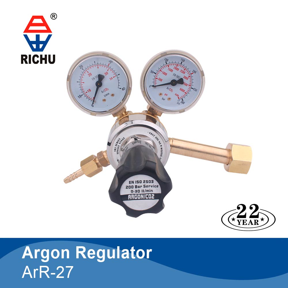 Free sample argon gas pressure regulator with mig/tig machine