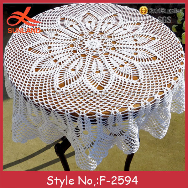 F-2594 hand lace embroidery design patterns for table cloth custom table cloth wedding