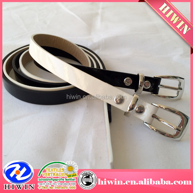 Metallic PU Belt with Shiny / Gunmetal Pu leather belt / Metal Buckle ladies new fashion belt