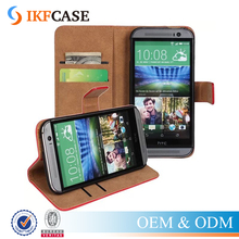 Top Quality Genuine Leather Wallet Stand Phone Case For HTC One M8 With Card Holder