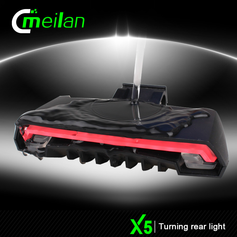 Meilan X5 Smart bike light turning signal rear light LED USB laser bicycle light accessories