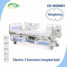 CE ISO approved multi function electric ICU hospital bed with column motors