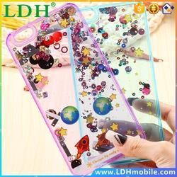 Crystal Glitter Dynamic Liquid Case For Apple iPhone 5 5S Quicksand Flowing Beads&Sequins Hard Back Phone Cover For iPhone 5 5S