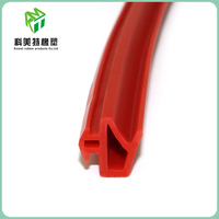 Wear resistant flock lined window rubber