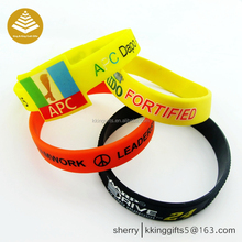 Custom factory logo print silicone rubber snap custom printed leather diy bracelet