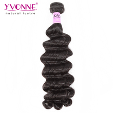 Guangzhou Yvonne human virgin fumi hair elegant style loose body color 1B hair weft