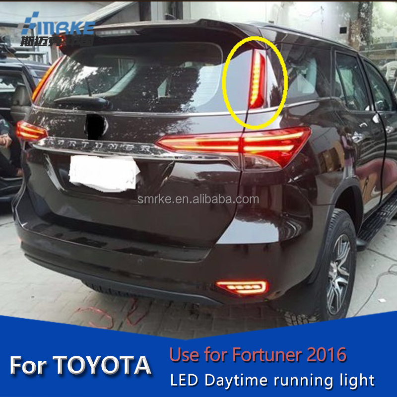 toyota fortuner lamp accessories rear bumper light reflector lamp For fortuner 2016 tail lamp