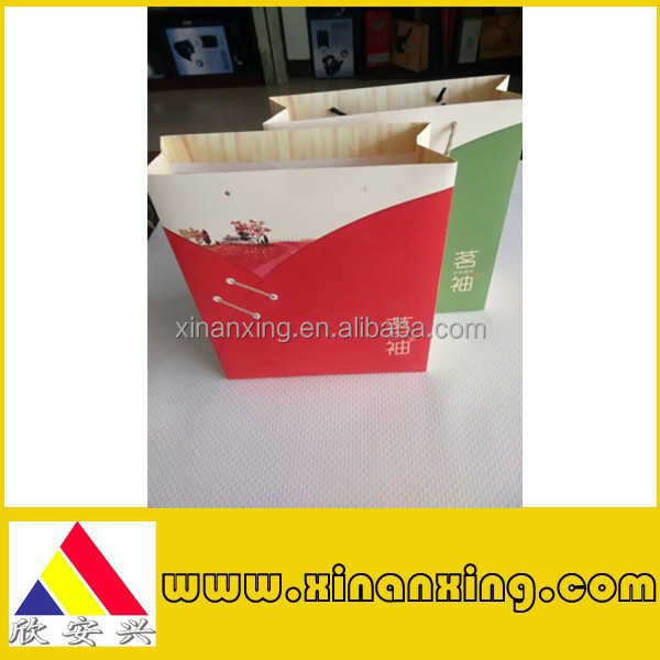 custom paper bag for tea, red paper bag made in china