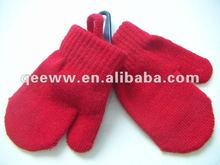 Wholesale Cheap Plain/Striped Colorful Hand Protect Acrylic Knitting Funny Kids Gloves