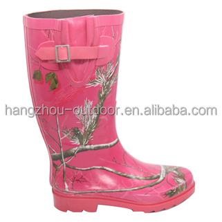 Camo Ladies Fashion Rubber Boots