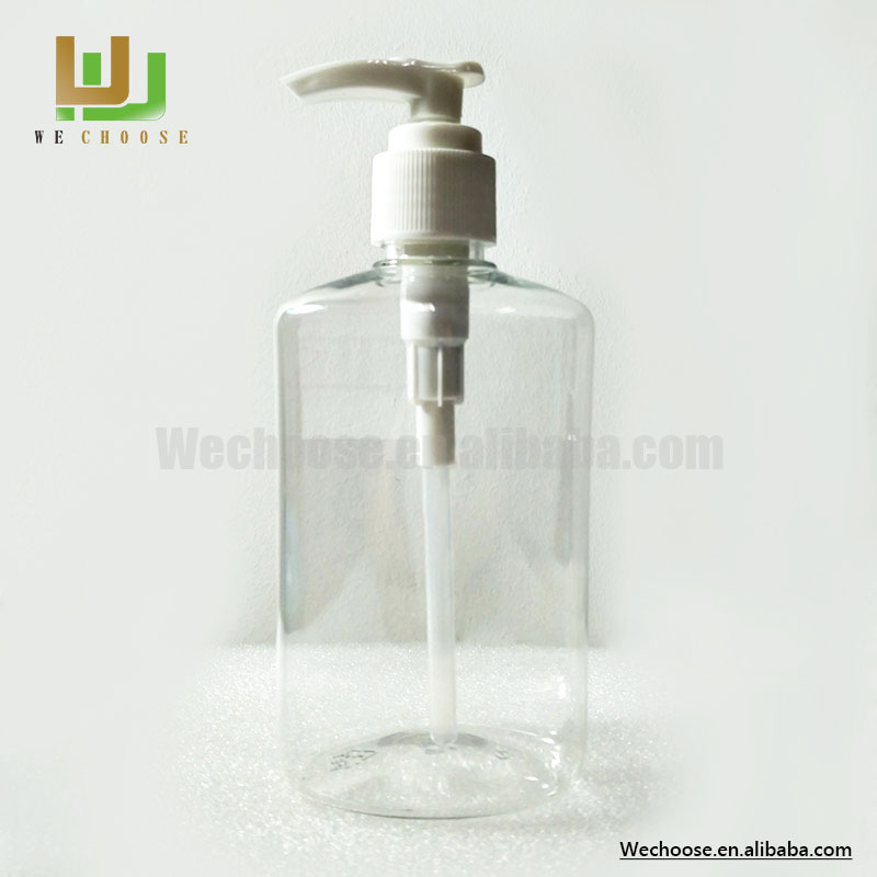 Fine quality easy to carry 250ml oval plastic bottles for shampoo body lotion
