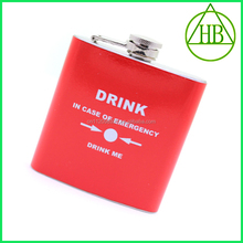 SGS Certificated Drink in case of emergency disposable hip flask