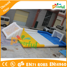 15x8m inflatable soap soccer field, inflatable water football pitch, inflatable water football