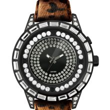 Top watch company famous brand Switzerland movement high end mirror function Animal fur band watch with official patent