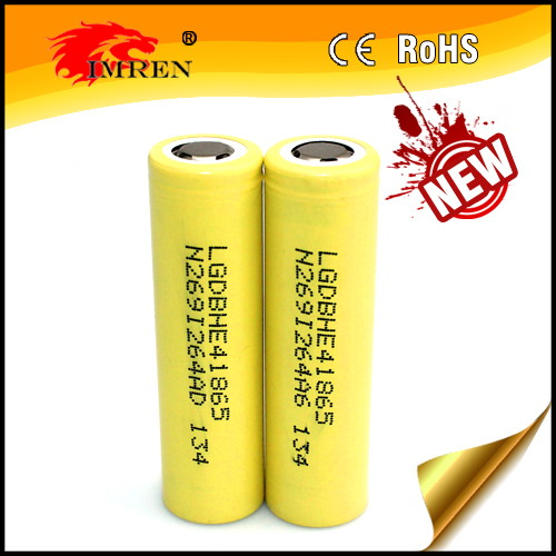 Flat top 18650 lg battery 35a max discharge 2500mah lg he4 3.7v rechargeable lithium ion for electronic tools/e-cig/power tools
