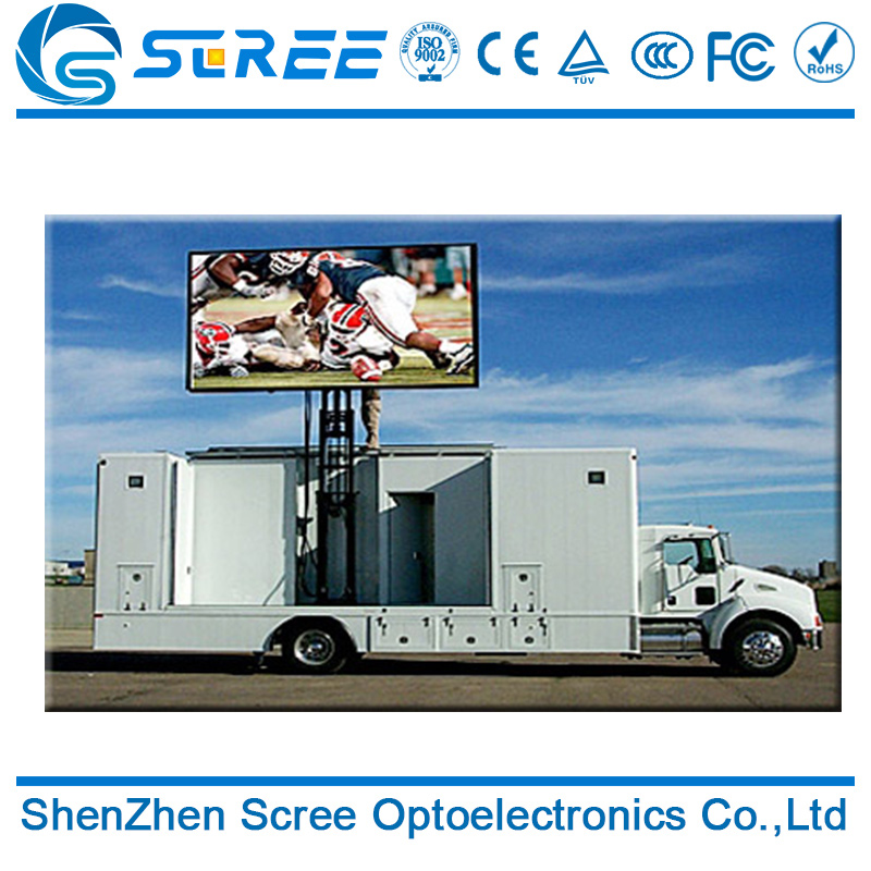 Advertising 3g Controller SMD P8 High Resulation Truck Led Display/ outdoor Mobile Trucks led Advertising For Sale
