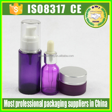 cosmetic empty glass packaging bottle make Up And Concealer Lotion glass Bottle lotion bottle for skin care