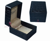 tailor-made fashion black faux leather jewellery boxes for earrings