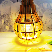 New products wooden handicraft lampshade