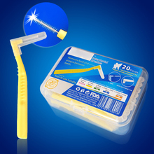 L Shape Push-Pull Gum Interdental Brush Oral Care Teeth Whitening Dental Tooth Pick Tooth Orthodontic Tooth Brush FDA