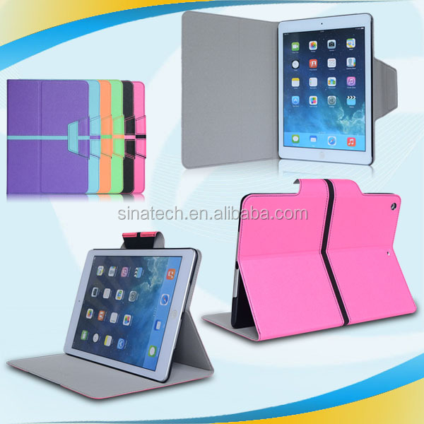 new design custom sublimation latest crocodile grain pu leather case cover for ipad 5