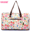 vivisecret custom printed duffle bag nylon ladies hand duffel bags waterproof beauty travel bag with logo