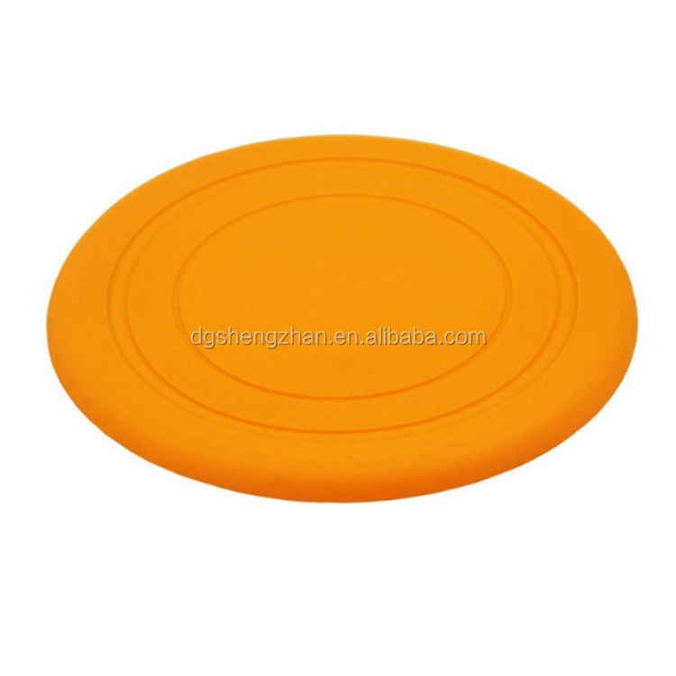 Silicone Dog Chew Frisbee Flying Training Disc Indestructible Strong Pets Toy