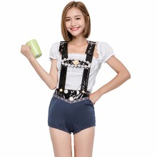 new design bar maid costume German festival sexy girl Beer oktoberfest costume