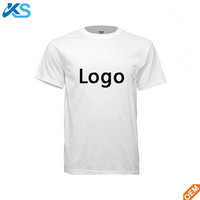 OEM wholesale Men's custom logo blank plain dyed 100%cotton screen printing tee shirt t shirt t-shirt