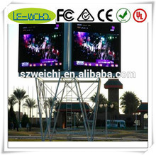 wholesale china factory aluminium profile for cabinets double side flexible video led screen SINO-P10
