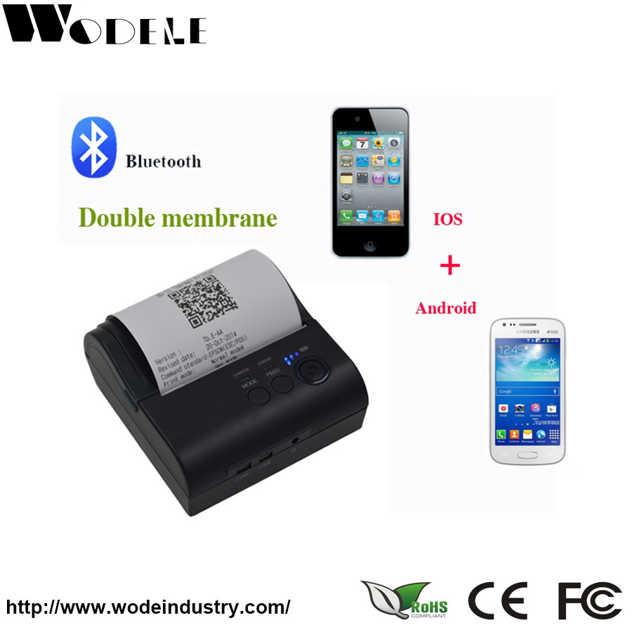 WD-80GL Portable Mini 58mm Bluetooth Wireless Pocket Mobile Pos Thermal Receipt Printer