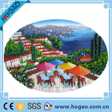 Made in china custom 2d resin/polyform magnet fridge magnet sticker
