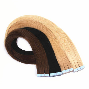 top quality double drawn russian remy  tape hair extensions